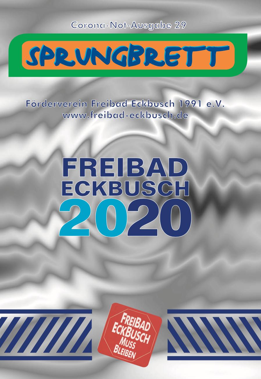 """Vereinszeitung """"Sprungbrett 2020"""" Corona-Notausgabe"""